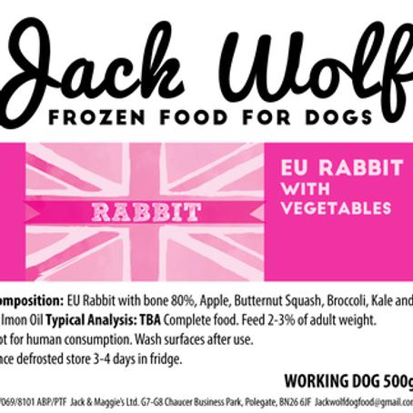 Jack Wolf Working Dog Rabbit (500g)