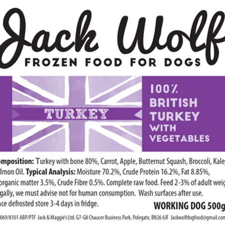 Jack Wolf Working Dog Turkey (500g)