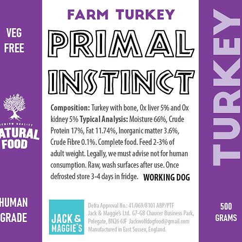 Jack Wolf Primal Instinct Turkey (500g)