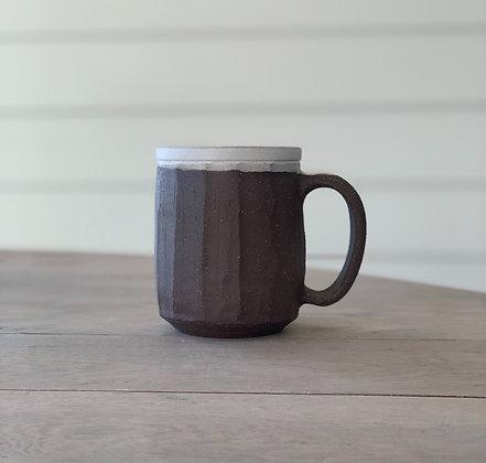 Three Finger Faceted Mug