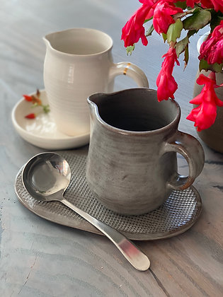 Gravy/Syrup Pitcher and Plate Set