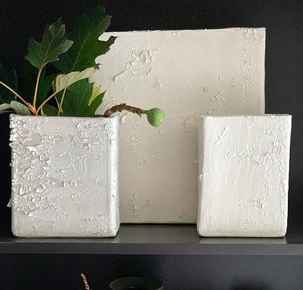 Textured Box Vase Trio