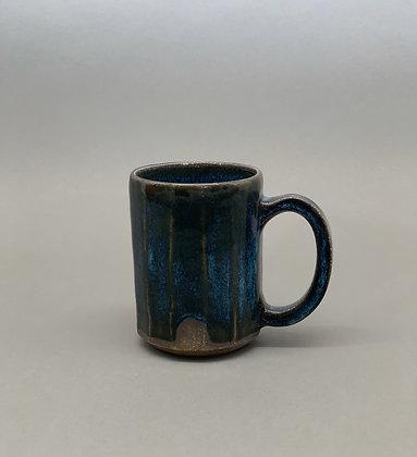 Moody Blue Faceted Mug