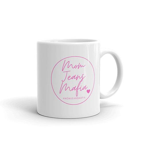 MJM Mug with pink logo