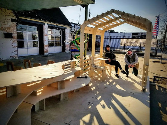 Better Block Mobility Parklet designed by Rickey Crum