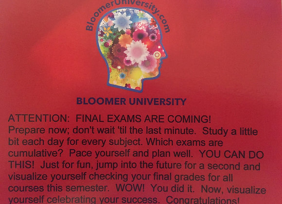 First Semester College Freshmen Cards