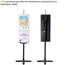 Quiosco dispensador de Alcohol en gel con interface de pantalla