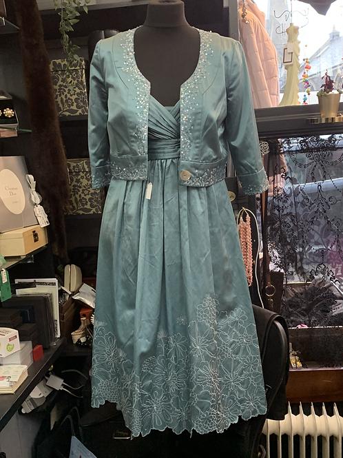 Noli Silk-Blend Party Dress & Bolero