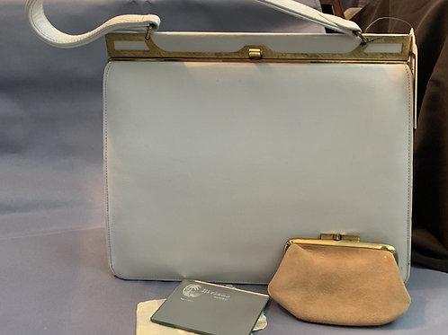 Riviera White Leather Handbag circa 60/70's