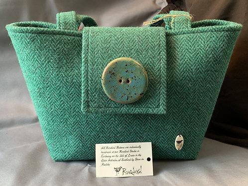 Rarebird Emerald Harris Tweed Handbag