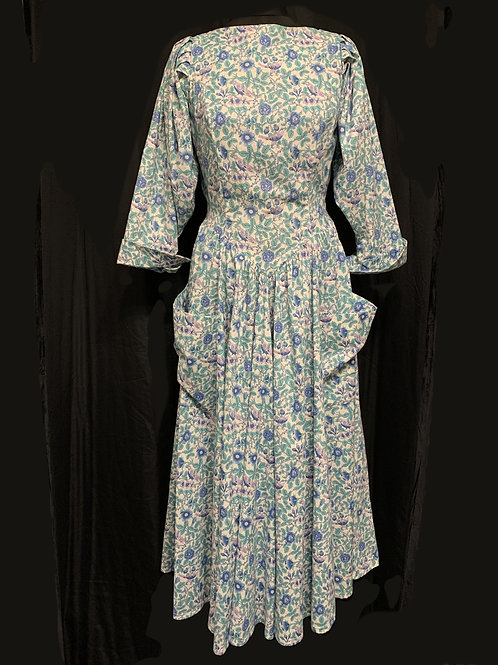 DROOPY & BROWNS Victorian-style Dress size 14 circa 70/80's