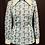 Thumbnail: Bradrex Crimplene Green Shapes Top circa 70's