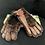 Thumbnail: VINTAGE Men's Brown Leather &  Beaver Lamb Gloves with CC41 label