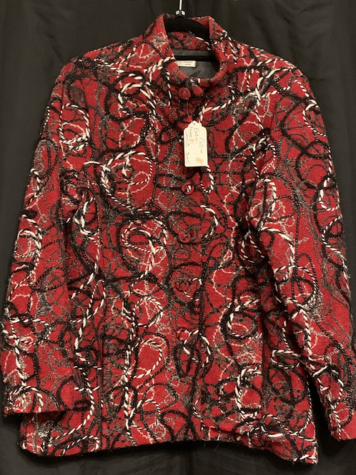 David Neiper Candy Cane Wool Blend Jacket size 18