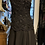 Thumbnail: Adrianna Papell Black Silk Beaded Fin 'n' Flare Dress size 8