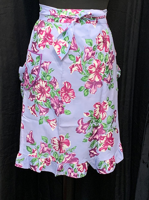 50's-style Purple Flowers Pinny