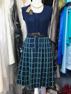 Fabulous French Fashion House Knitted Dress circa 70's