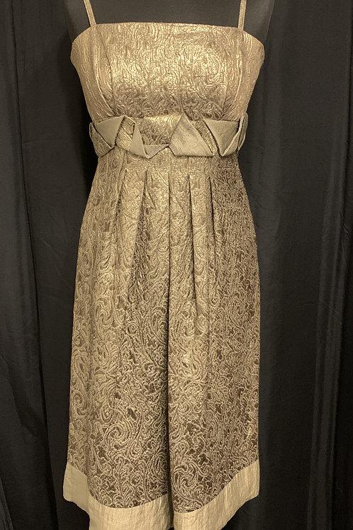 DESIGNER Gina Bacconi Gold Cocktail Dress size 12