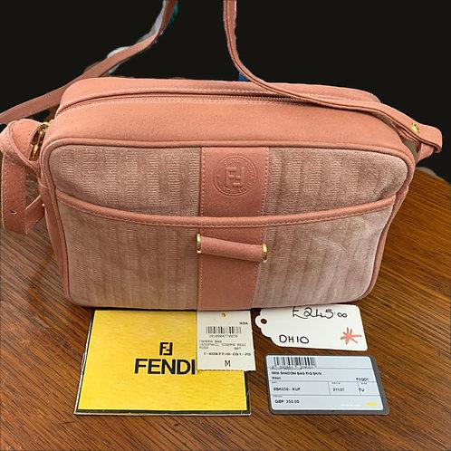 FENDI Pig Skin Leather & Suede Camera Bag