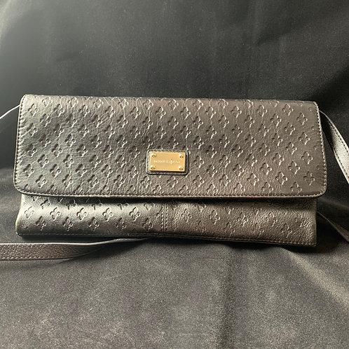 VINTAGE Patrick Cox Black Leather Envelope Clutch/Handbag circa 90's