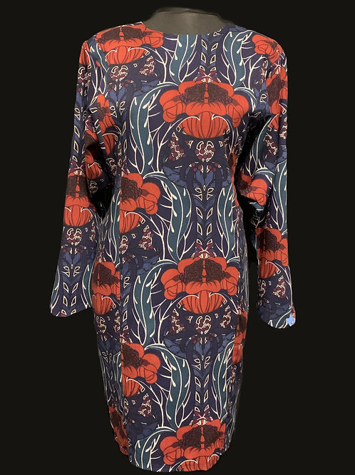 DROOPY & BROWNS Poppy Winged Tunic Dress size 14 circa 80/90's
