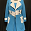 Thumbnail: REPRO Marmalade Shop by Magdalena Sokolowska Turquoise & White Dress & Coat Set
