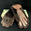 Thumbnail: VINTAGE Men's Brown Leather &  Beaver Lamb Gloves with CC41 label