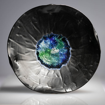 Glass Dish In Black