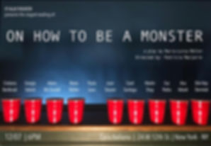 On How To Be A Monster Poster