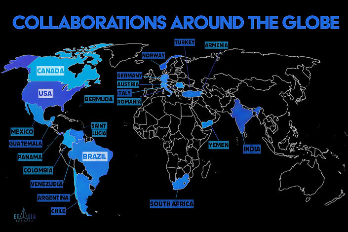 Collaborations around the globe