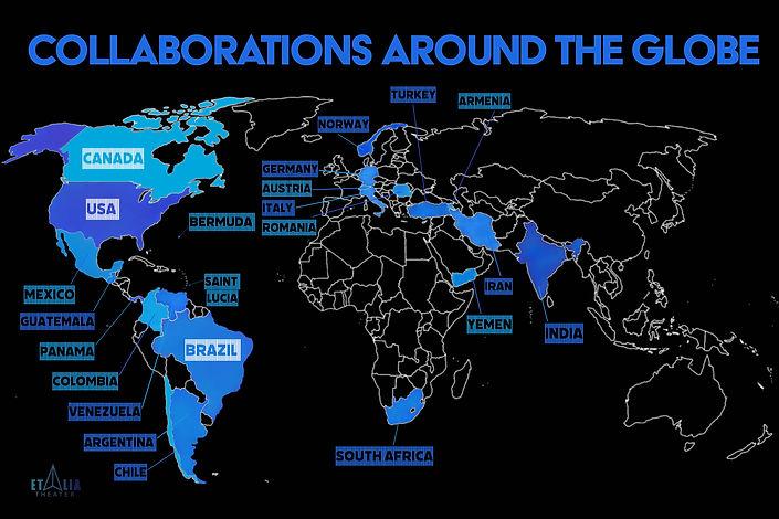 Collaborations around the globe