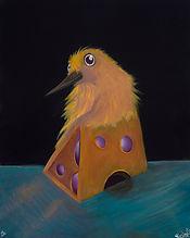 Acrylic on Gesso Board, Birds, Animals, color, Visual Art, illustrations