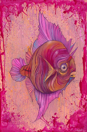 Fish, Marine biology, organism, illustration, Visual Arts, Discus fish