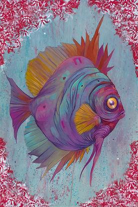Mairne Biology, fish, illustration, discus, color