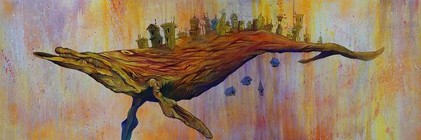 Acrylic on Birch Wood, mairne life, illustration, visual arts
