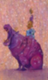 Hippo, Purpl, Buildings, Visual Art, Illustrations