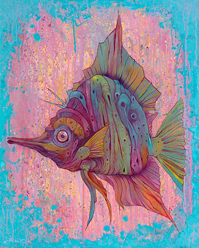 fish, mairne biology, visual arts, illustration organic, colorful
