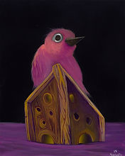 Acrylic on Gesso Board, Birds, Animals, color, Visual Art, illustrations