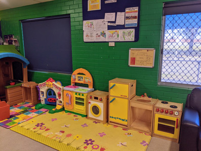 Inside play kitchens