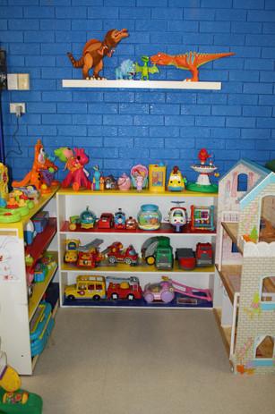 Inside toy corner