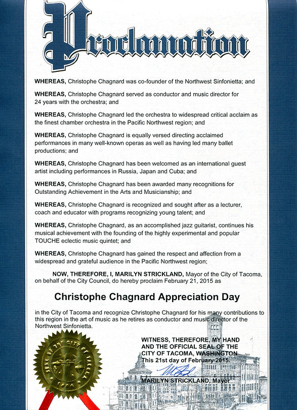 City of Tacoma Proclamation February 21,