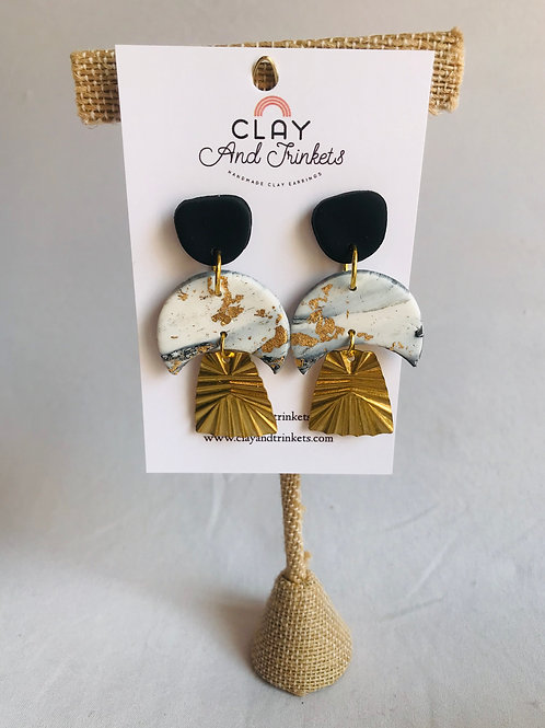 Gold Marble Dangles