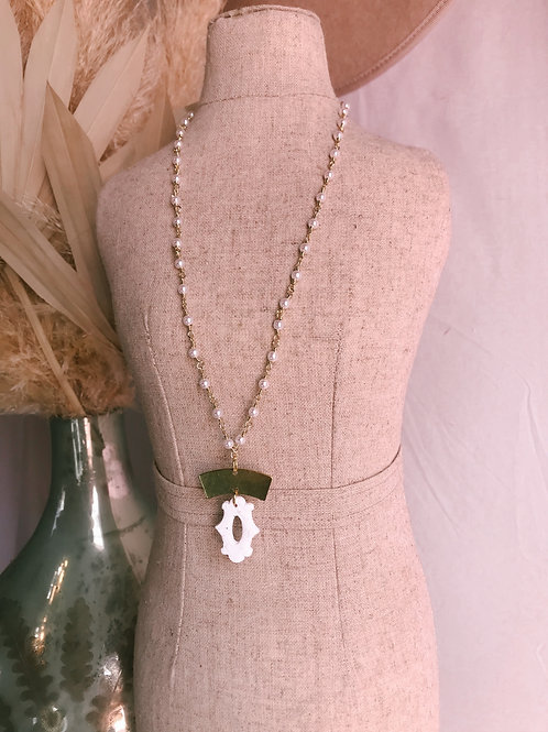 Beaded Pearl Bella Necklace