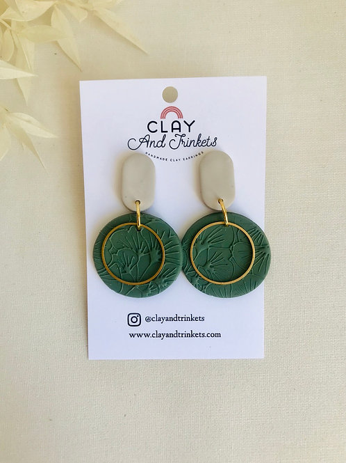 Emerald Green Poppy Hoops