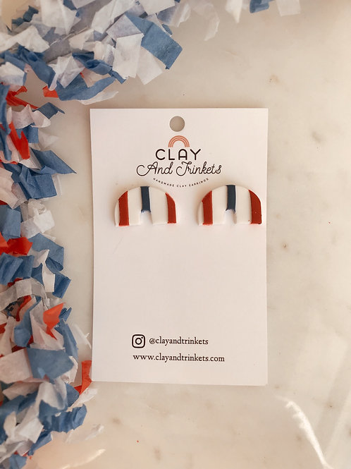 Red, White, & Blue Studs