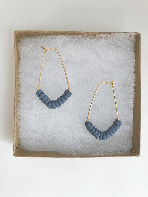 Blue Clay Hoops