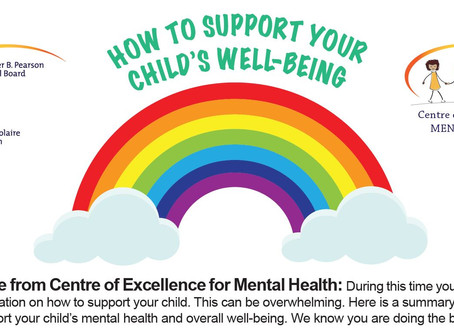 CEMH: HOW TO SUPPORT YOUR CHILD'S WELL-BEING-COMMENT FAVORISER LE BIEN-ÊTRE GÉNÉRAL DE VOTRE ENFANT