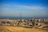 Dubaj z balónu - mrakodrapy