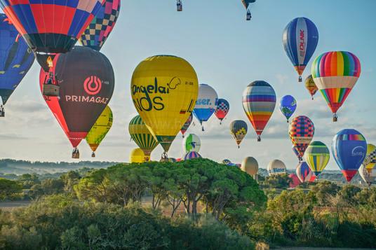 Balóny nad stromy - Malorka 2019