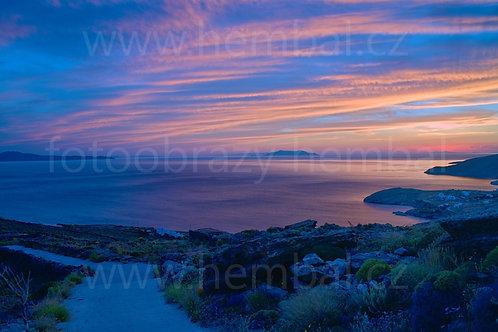Tinos - západ slunce